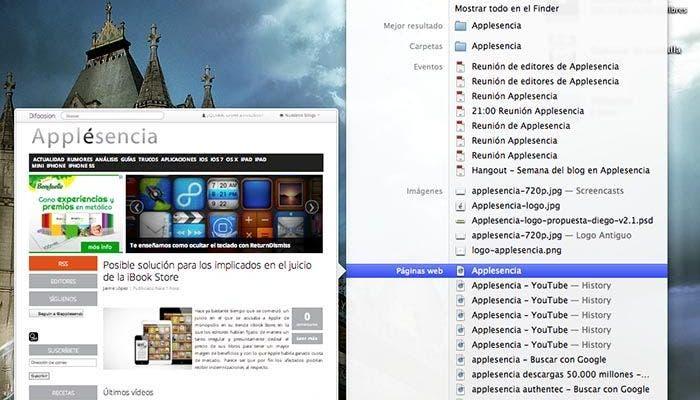 Spotlight en OS X