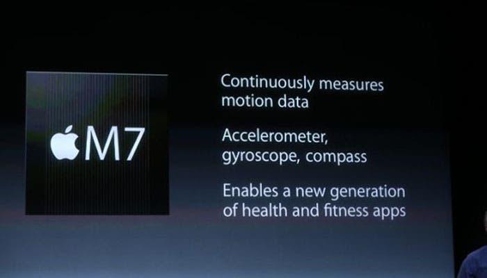 Nuevo coprocesador de movimiento M7