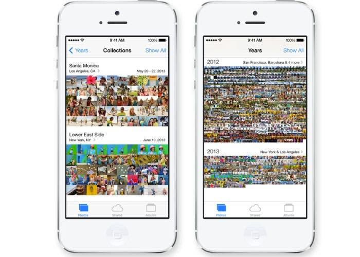 Fotos en iOS 7