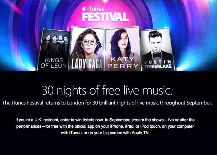 iTunes Festival Web
