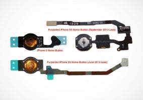Botón Home del iPhone 5S con sensor biométrico