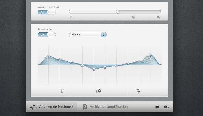 Ecualizador de Boom para OS X