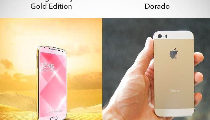 Samsung Galaxy S4 Gold vs. iPhone 5s Gold