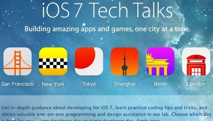 Fechas y días de las Tech Talks de iOS 7