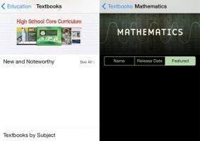 Libros de texto en iOS 7