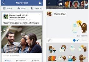 Actualización de la app de iOS de Facebook