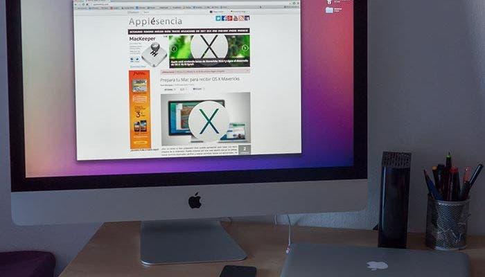El nuevo iMac sobre el escritorio