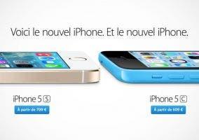 Precios del iPhone 5s y iPhone 5c en Francia