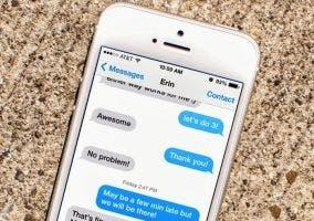 iPhone con iMessage en funcionamiento