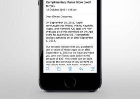 Correo de Apple devolviendo el dinero