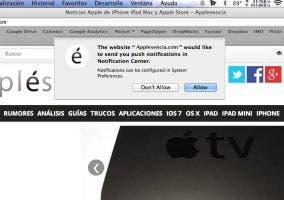Notificaciones de Safari en OS X Mavericks