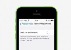 Reducción de movimiento en iOS 7