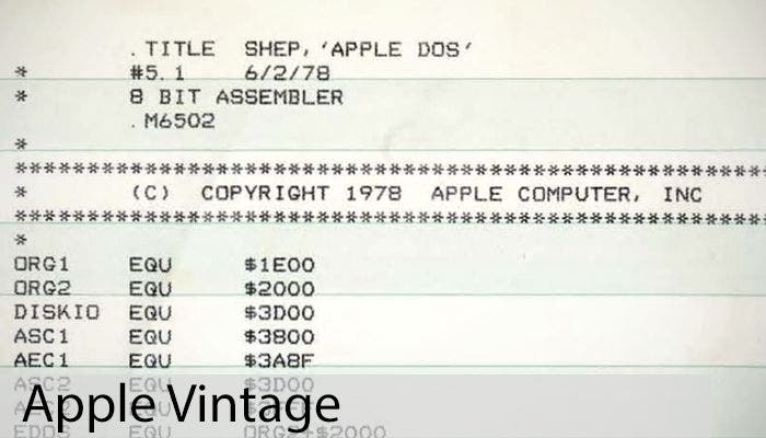 Apple Vintage: Apple DOS