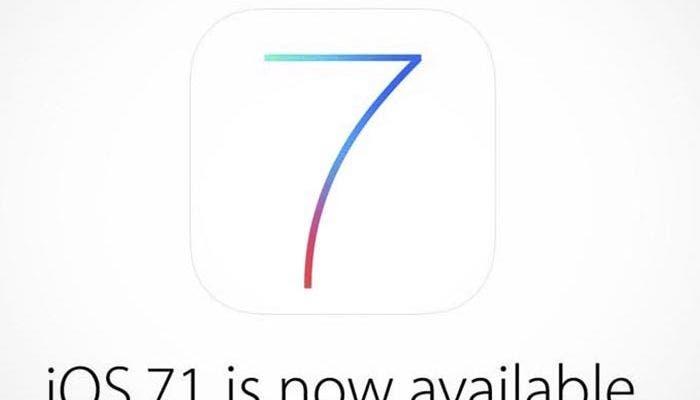 Disponible la actualización de iOS 7.1