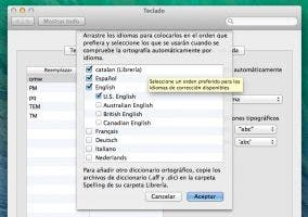Añadir catalán como diccionario en OS X Mavericks
