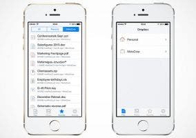 Interfaz filtrada de Dropbox for iOS 7