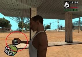 Usando un iPhone en GTA San Andreas