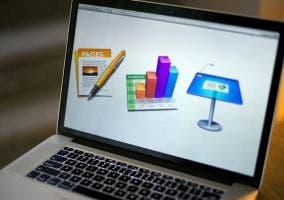 iWork en un MacBook