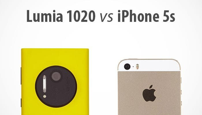 Nokia Lumia 1020 frente a Apple iPhone 5s