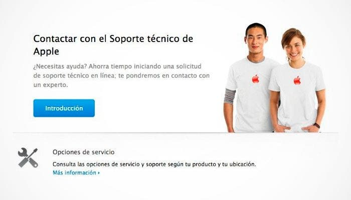 Soporte de Apple mediante AppleCare
