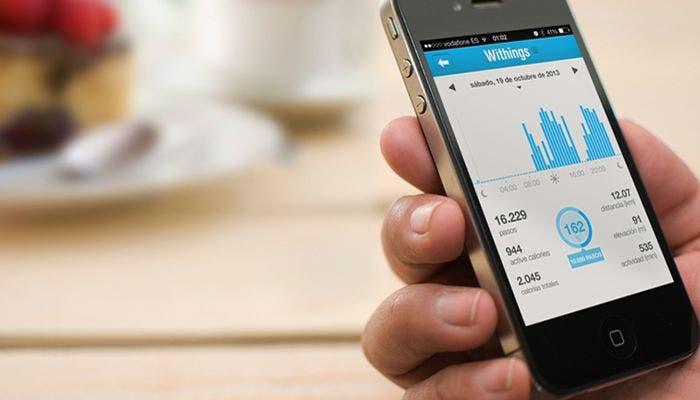 Withings Pulse en un iPhone