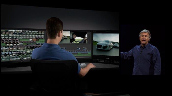 Edición en 4K con 3 monitores con Mac Pro
