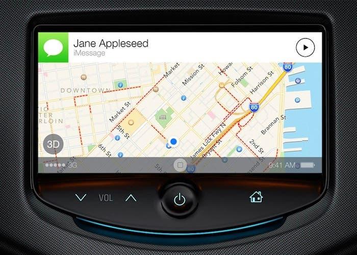 Dashboard del coche con iOS 7