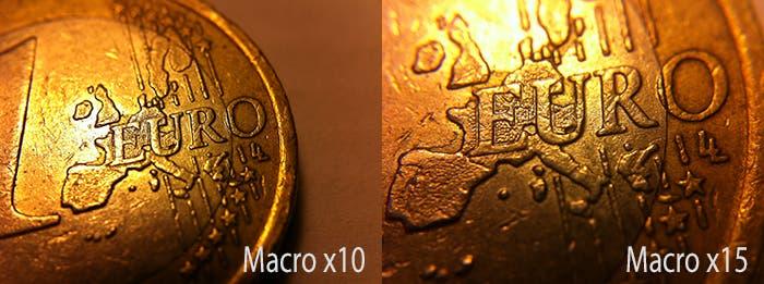 Comparativa macro x10 x15