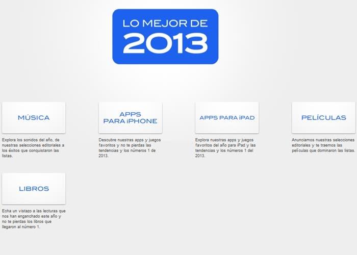 Lo mejor de 2013 de iTunes