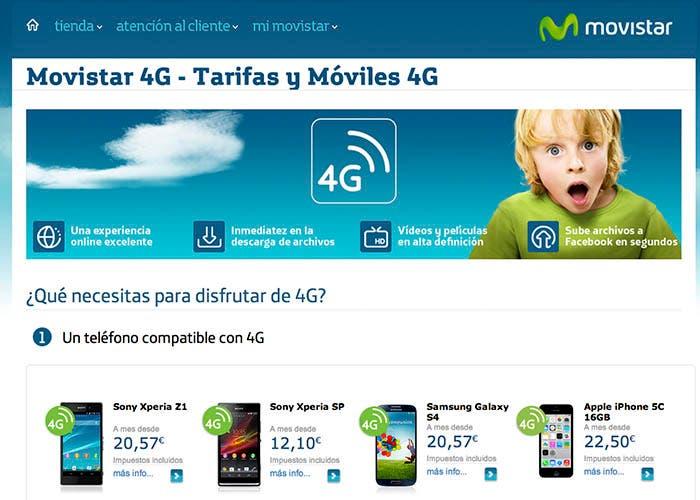 Activar la cobertura 4g de Movistar