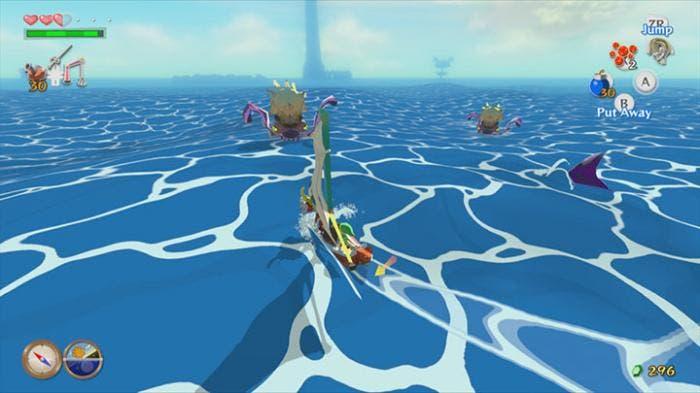 Zelda Wind Waker navegando