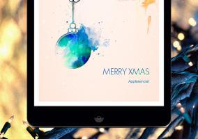 App de A Christmas for you en un iPad