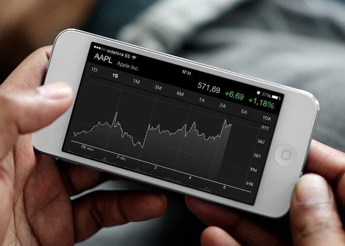 Aplicación con las acciones de Apple