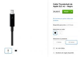 Thunderbolt negro para Mac Pro