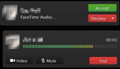 Llamadas de audio en FaceTime