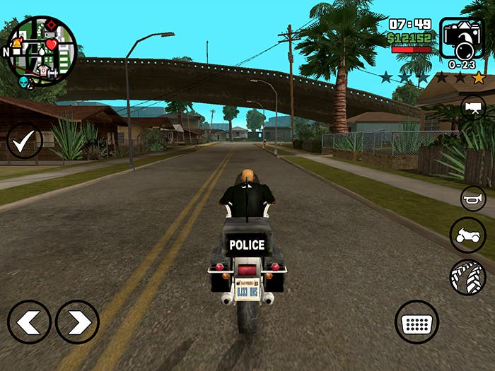 Conduciendo en GTA San Andreas