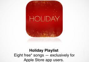 8 canciones navideñas de la app de Apple Store