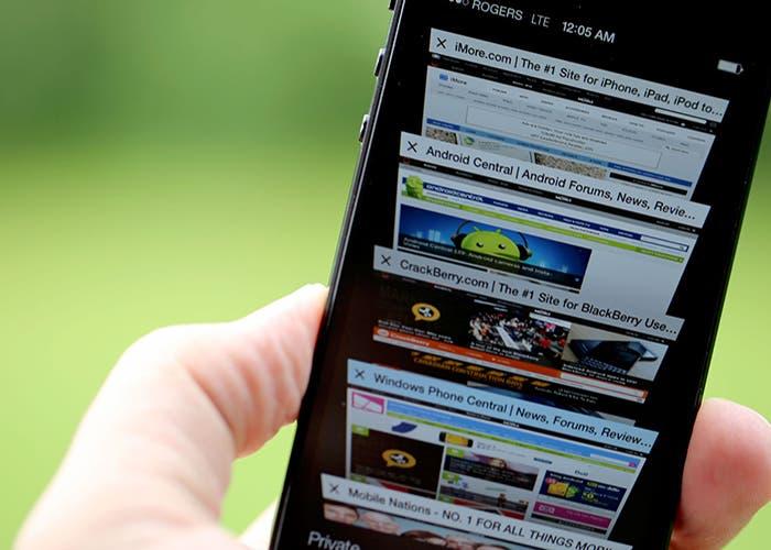 Pestañas Safari iOS7