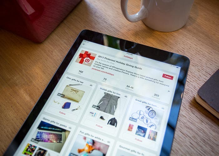 Pinterest corriendo en un iPad Air