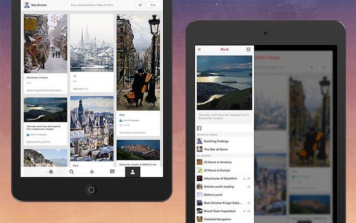 Nueva versión de Pinterest para iPad