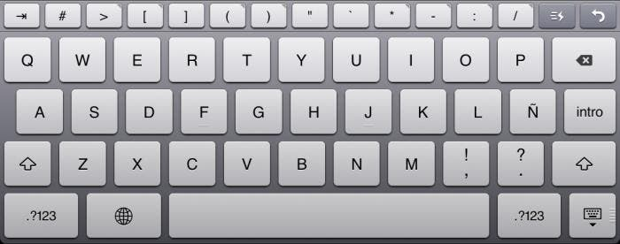 Teclado extra de Editorial para iPad