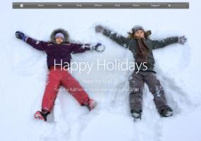 Web de Apple felicitando las navidades