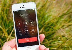Pantalla de teléfono iOS 7