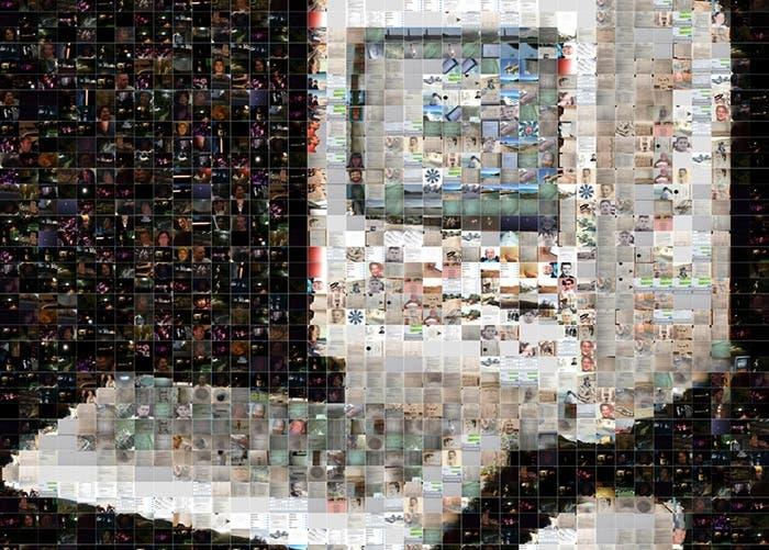 Mosaico conmemorativo del 30 aniversario del Macintosh