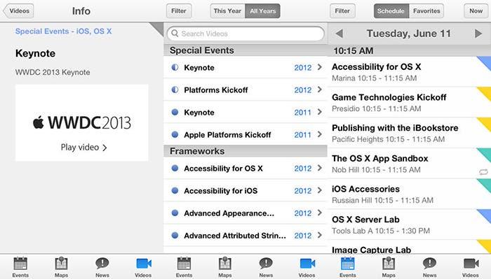 Nueva actualización de la app WWDC para iOS