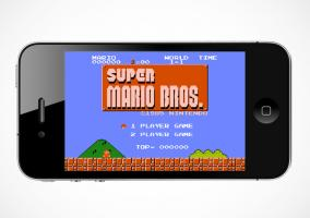 Mario Bros en un iPhone