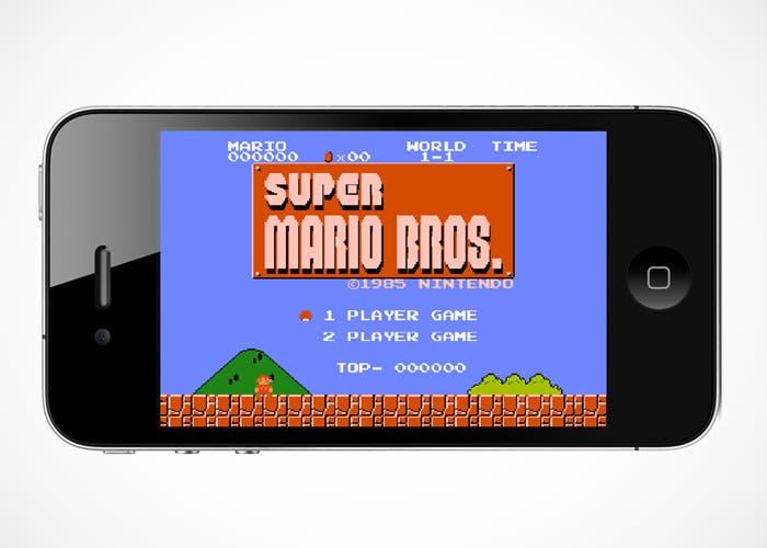 Mario Bros en un iPhone