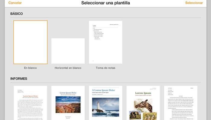 Nueva interfaz de Pages para iCloud