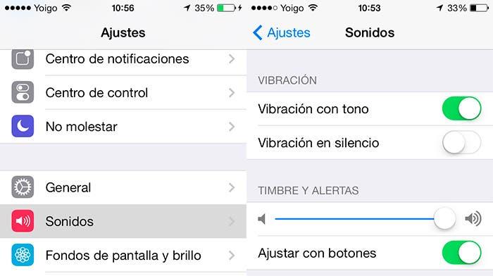 Activar vibración en iOS