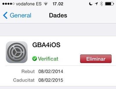 Certificado de GBA4iOS